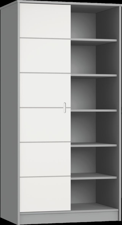 Alda Selyemszürke 2 osztású szekrény