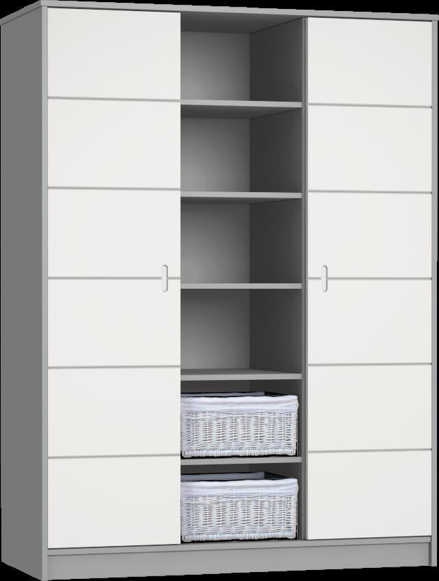 Alda Selyemszürke 3 osztású szekrény