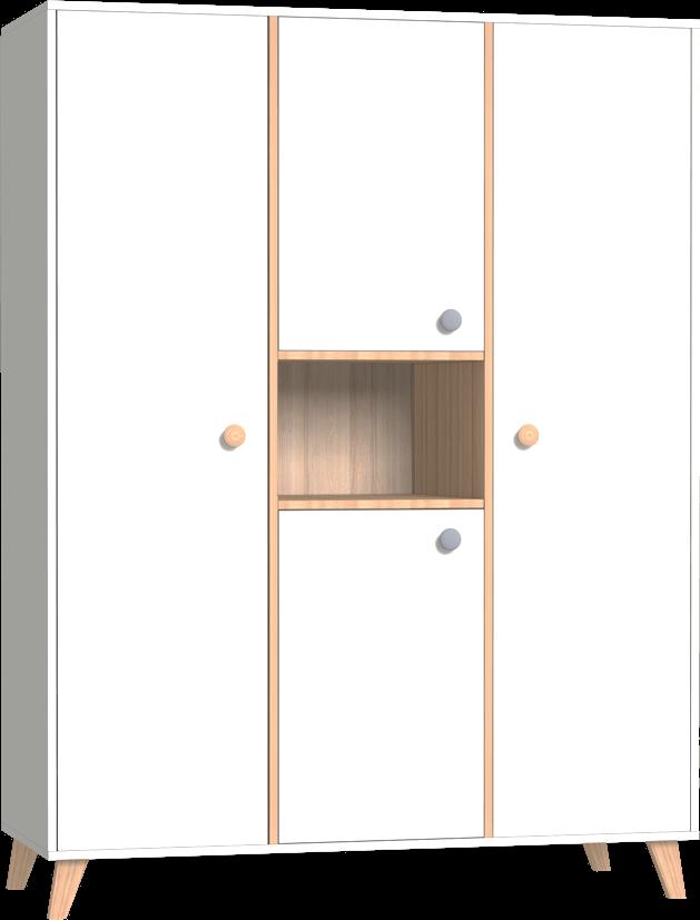 Colette Fehér 3 osztású szekrény