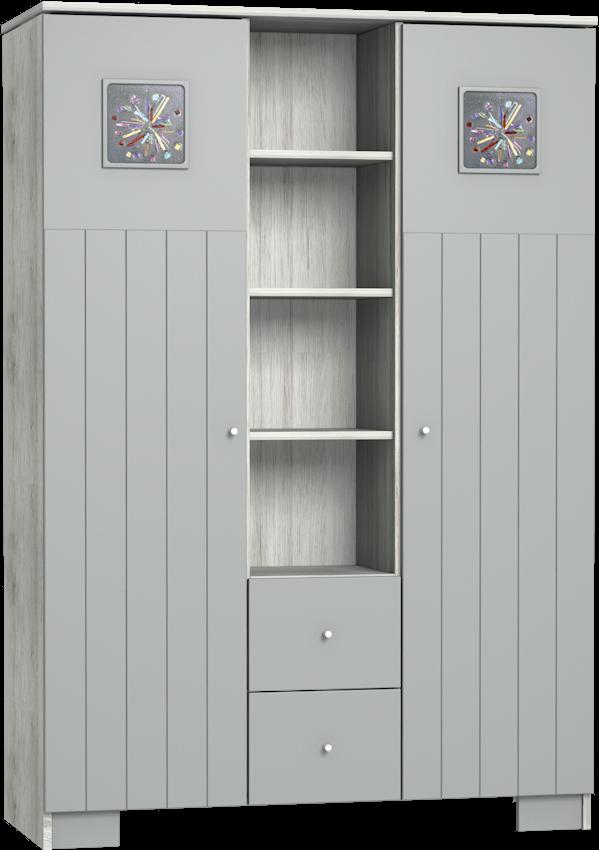 Kamilla Polar 3 osztású szekrény
