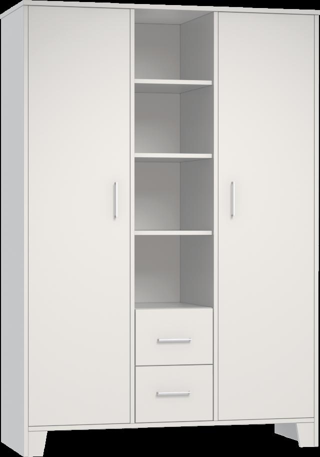 Némó fehér 3 osztású szekrény